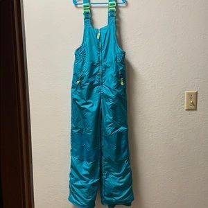 Girls teal snow pants